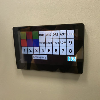 Wall mounted KelKom Panel in Dr Office